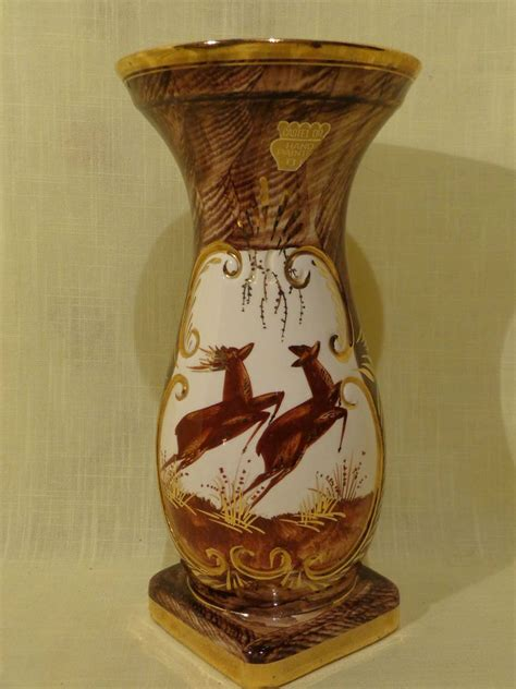 Pottery Vase by Details About Vintage Belgium Pottery Vase Painted