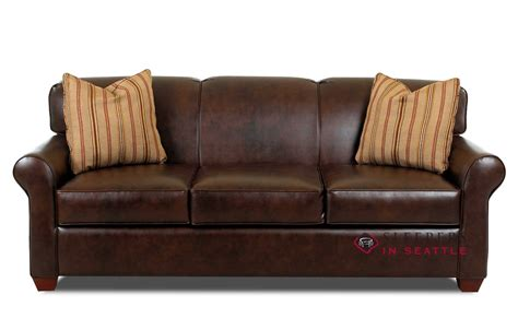 leather sleeper sofa queen customize and personalize calgary queen leather sofa by