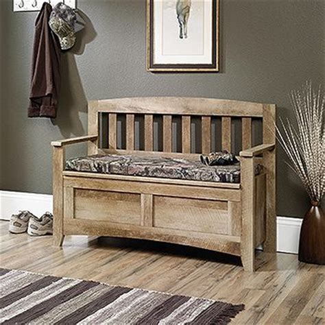 indoor bench   rugged outdoors pattern  bench