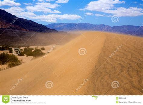 Mesquite Dunes Desert In Death Valley Wind Sand Storm