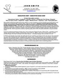 executive sous chef resume sles top hospitality resume templates sles