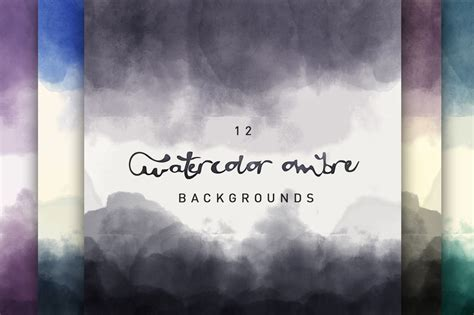 watercolor ombre backgrounds textures  creative market