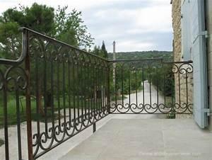 Rambarde Fer Forgé : garde corps m talliques de terrasse et balcon inox acier ~ Dallasstarsshop.com Idées de Décoration