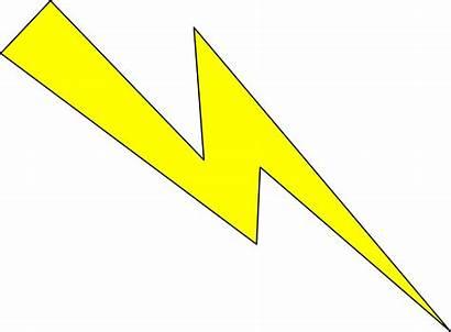 Lightning Clipart Yellow Outline Thunder Transparent Thunderbolt