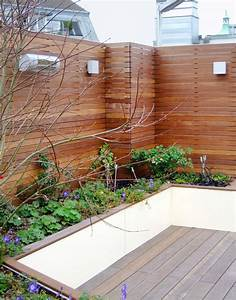 Terrasse Tiefer Als Garten : sichtschutz individuelle l sungen in holz exklusiv vom gartentischler ~ Orissabook.com Haus und Dekorationen