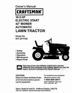 Craftsman Lawn Mower 917 271142 User Guide