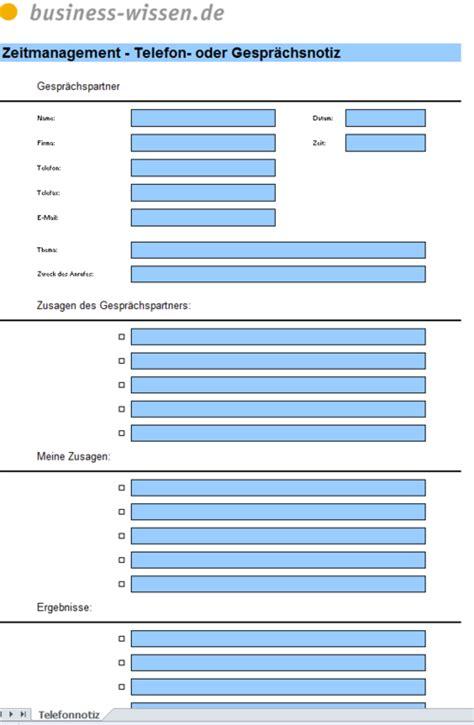 formular fuer gespraechsnotizen excel tabelle business