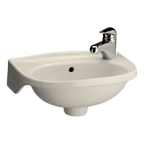wall hung kitchen sink pegasus tina wall mounted bathroom sink in bisque 4 551bq 6940