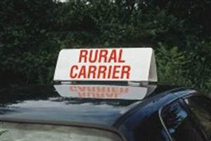 n1014818 quotrural carrierquot car top sign With rural letter carrier signs