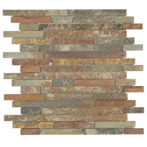 home depot wall tile jeffrey court satin copper 11 1 2 in x 12 in x 8 mm