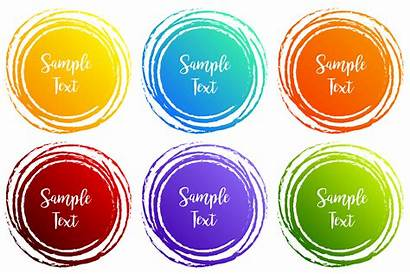 Shapes Designs Colors Round Label Different Vector