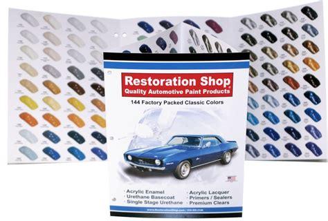 144 Auto Paint Color Chart/chips-acrylic Enamel/lacquer