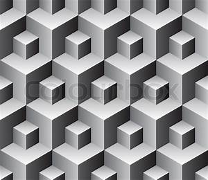 Seamless cubes background - vector pattern for continuous ...