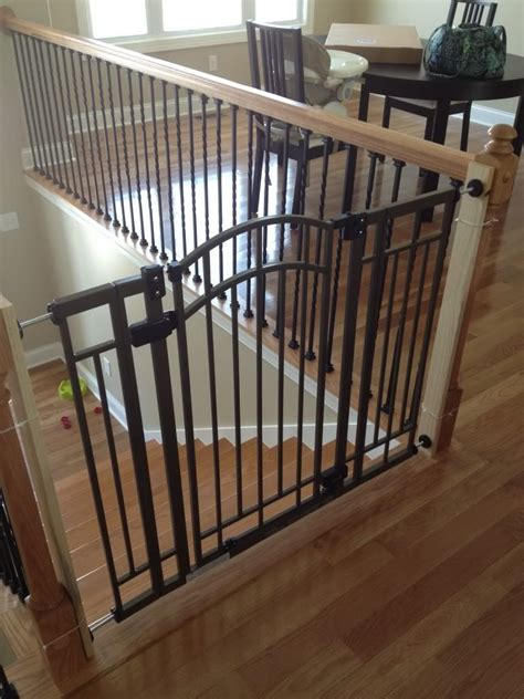 banister safety gate split level house baby proof stairs in 2019 my