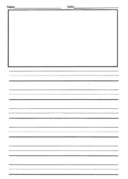 grade writing template   front