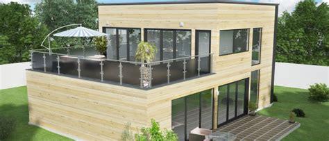maison en bois kit cle en chalet moderne en kit chaios