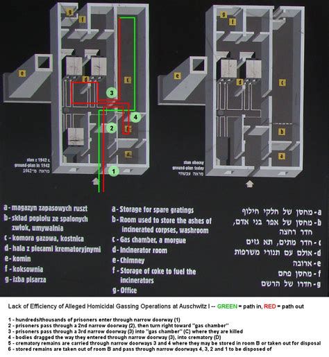 chambre a gaz auschwitz gas chamber holocaust diagram pixshark com images