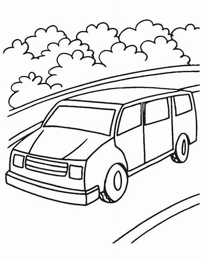 Van Coloring Mini Pages Vans Drawing Printable