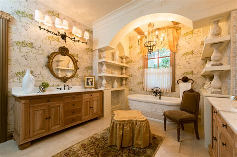 French Provincial Kitchen Ideas - french provincial master bathroom mediterranean bathroom houston by jonathan ivy productions