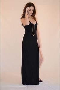 LONG BEAUTIFUL BLACK MAXI DRESSES - Godfather Style