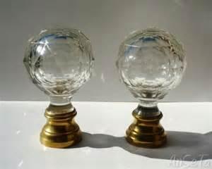 glass newel post finial