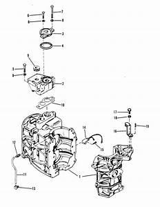 Mercury Marine 35 Hp  2 Cylinder  Cylinder Block  U0026 Thermostat Parts
