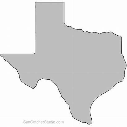 Outline Texas State Clipart Stencil Louisiana Shape