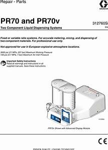 Graco 312760s Pr70 And Pr70v Users Manual Pr70v  Repair