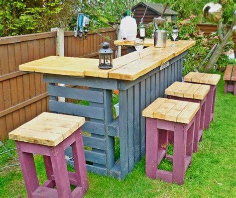 patio pallet bar images