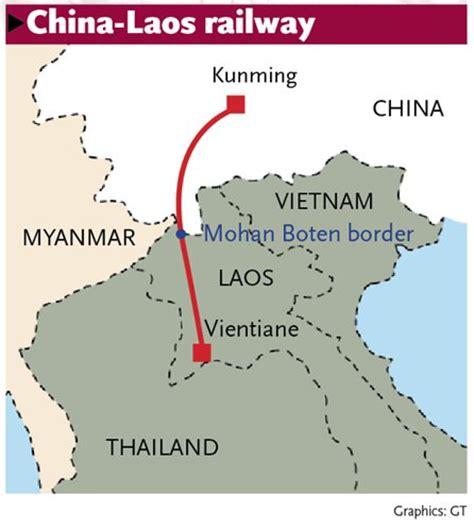 construction  china laos railway speeds   beat rainy
