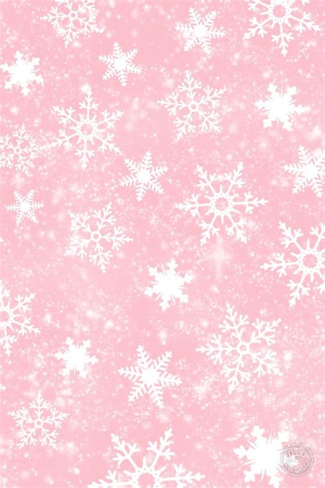 Silver Pink Snowflake Background by Pink Snow Wallpaper Iphone Backgrounds