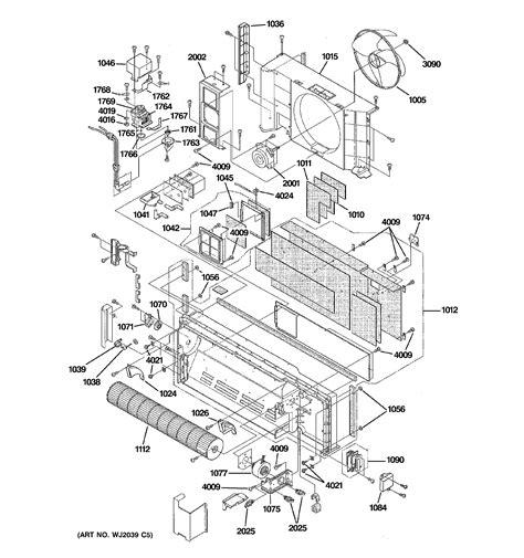ge az61h12dabw1 air conditioner room genuine parts