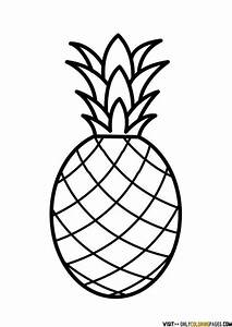 Drawing clipart pineapple - Pencil and in color drawing ...