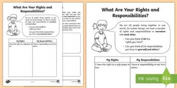 what are your rights and responsibilities worksheet