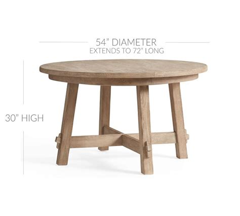 Earn $139.90 (10%) back in rewards 1 on this item with a pottery barn credit card. Toscana Round Extending Dining Table - Seadrift | Pottery Barn