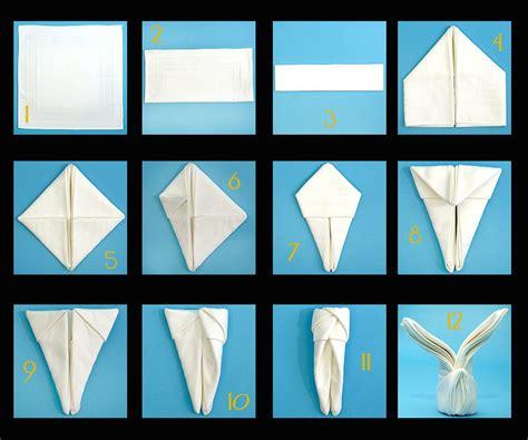 Hasen Servietten Falten by 28 Creative Napkin Folding Techniques Easter Bunny