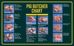 7 Best Images Of Meat Butcher Chart Printable Pork