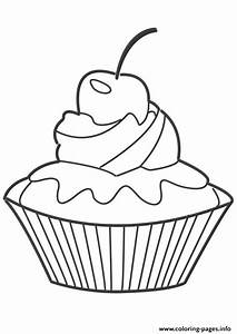 Hello Kitty Cupcake Coloring Pages - Kids Coloring
