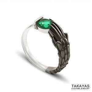 final fantasy vii emerald sephiroth engagement ring With fantasy wedding rings