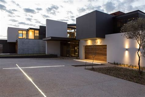 garage lighting luxurious modern residence  pretoria