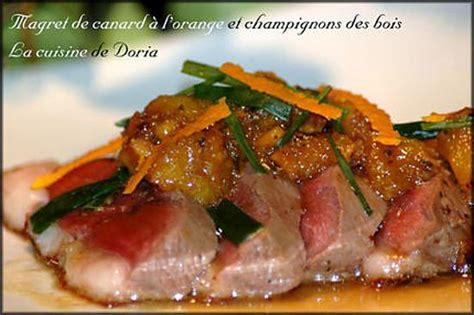 cuisiner un magret de canard a la poele recette de magret de canard à l 39 orange et chignons des bois