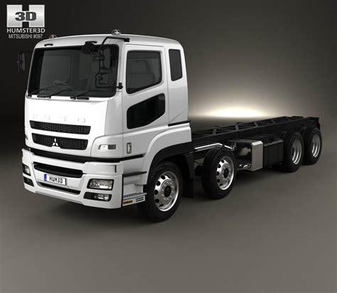 mitsubishi truck pictures mitsubishi fuso heavy chassis truck 2017 3d model hum3d