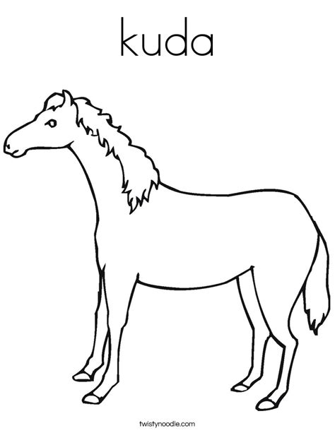 Coloring Kuda by Kuda Coloring Page Twisty Noodle