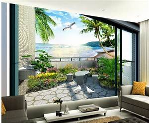 Aliexpress.com : Buy custom 3d wallpaper Balcony garden ...