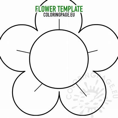 Flower Printable Template Coloring