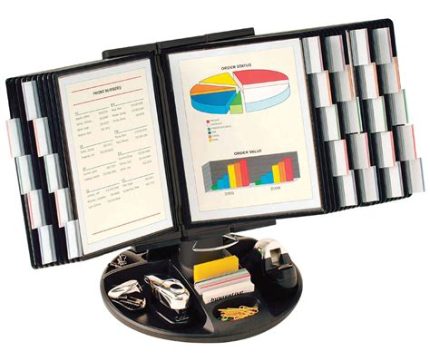 desk reference system reference organizer desktop accessory tray included
