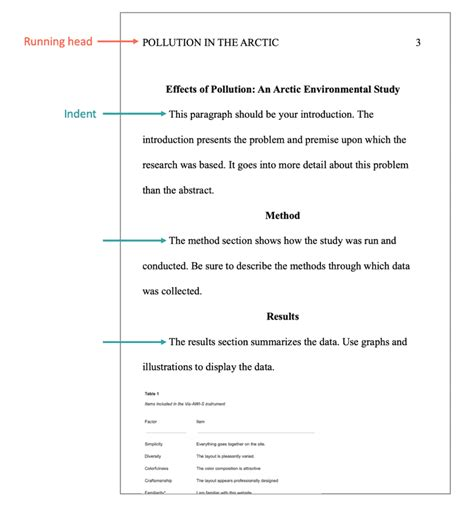 Sample apa paper 1 running head: Apa Style Research Paper Sample With Table Of Contents | Awesome Home