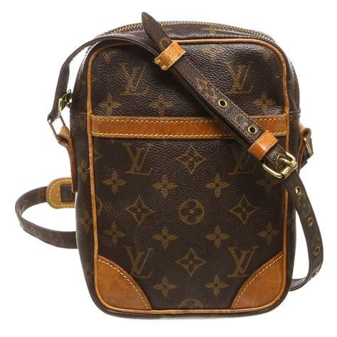 shop  louis vuitton monogram canvas leather danube crossbody bag shipped  usa
