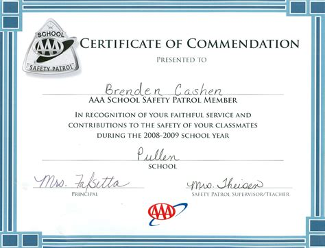 Safety Recognition Certificate Template by Certificate Templates Safety Award Image Collections
