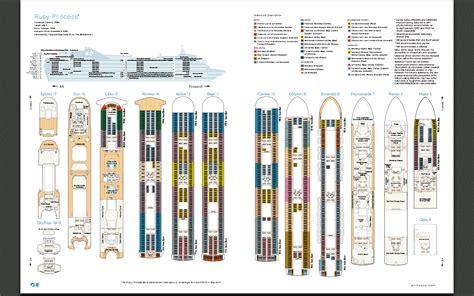 deck layout ruby princess aussie cruising